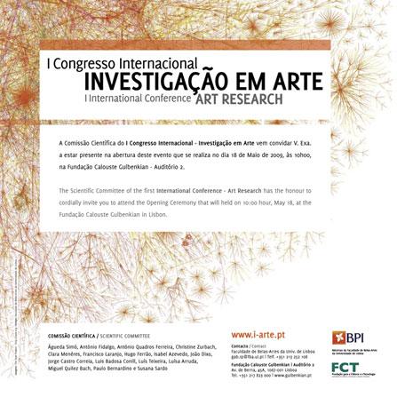 1º Congresso Internacional -Investigação em Arte