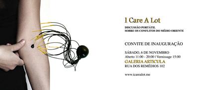 I care a lot - Convite Inauguração