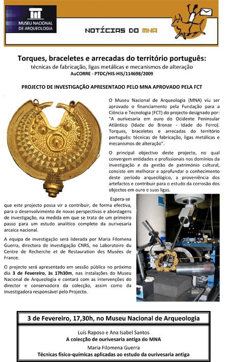 Torques, braceletes e arrecadas do território Português