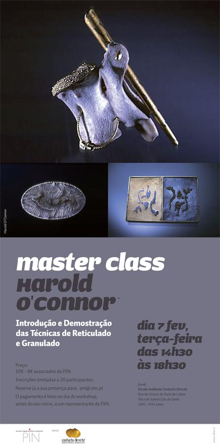 Master Class com Harold O´Connor